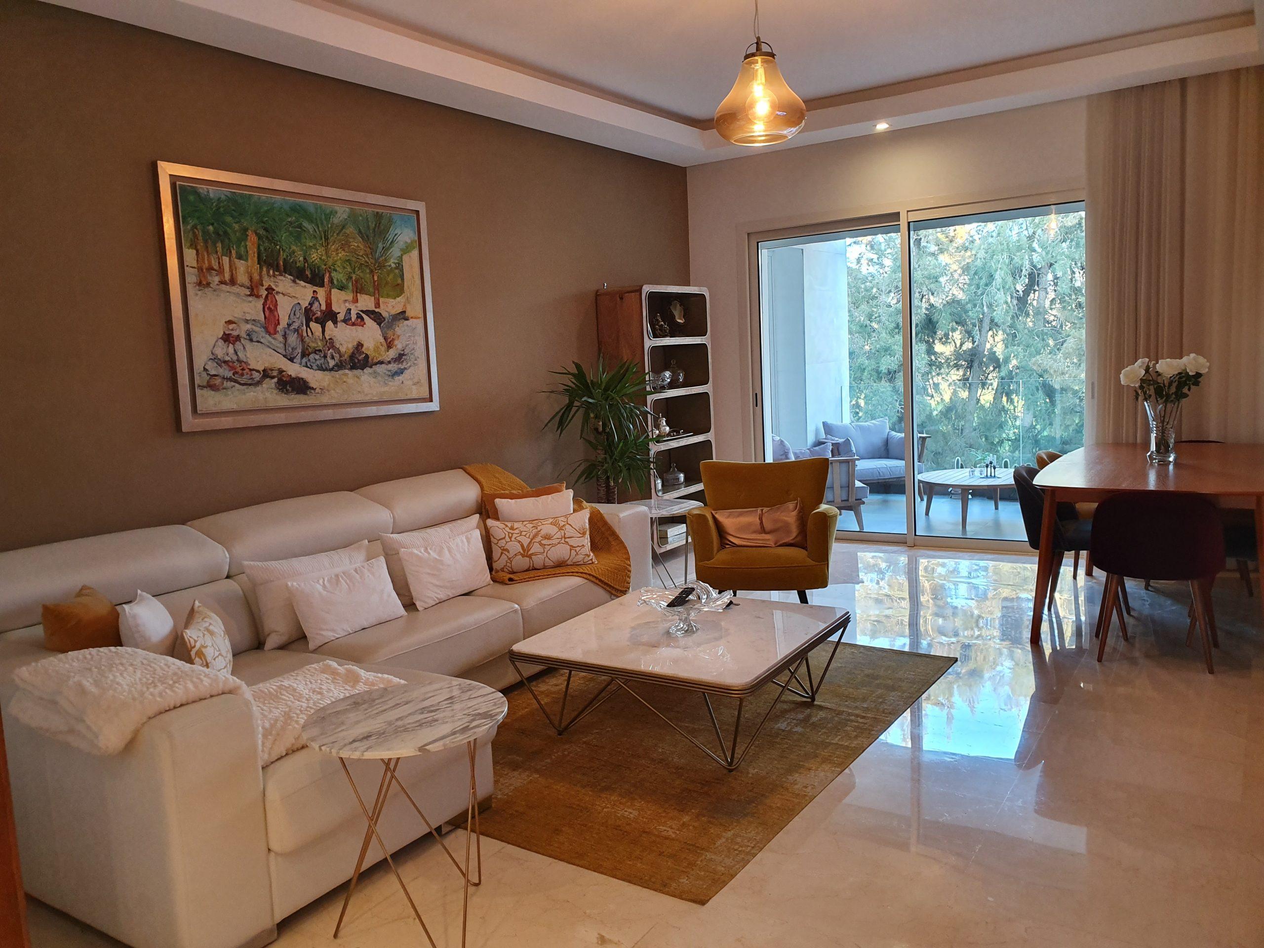 Appartement meublé en location à Souissi
